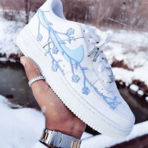 Nike AF1 BLUE BLOSSOM