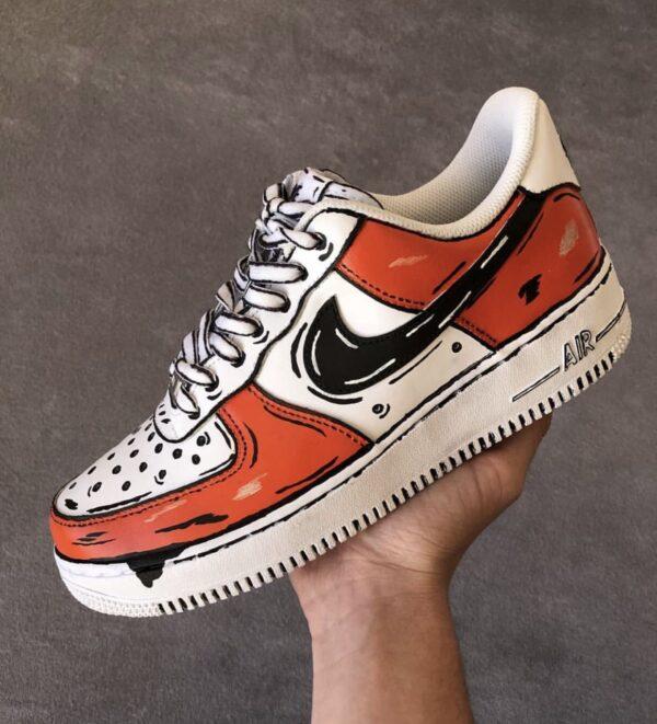 Nike AIRFORCE 1 COLORED (3D Cartoon custom)